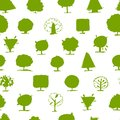 Seamless pattern doodle trees for your design this is file of eps format Royalty Free Stock Images