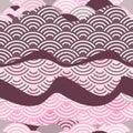 Seamless Pattern Dragon Fish S...