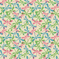 Seamless pattern with dragonflies Royalty Free Stock Photo