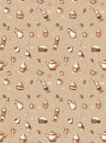 Seamless pattern with drawings of coffee Royalty Free Stock Images