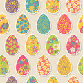 Seamless pattern with easter eggs Royalty Free Stock Photos