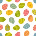 Seamless pattern. Easter eggs with different geometric ornaments Royalty Free Stock Photo
