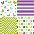 Seamless pattern easter set and digital scrapbook Stock Photography