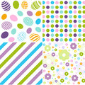 Seamless pattern easter set and digital scrapbook Royalty Free Stock Photo