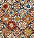 Seamless pattern. Eastern decorative elements. Hand drawn background.