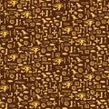 Seamless pattern with egypt hieroglyph Royalty Free Stock Photo