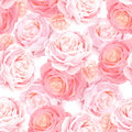 Seamless pattern with elegance color pink roses.