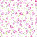 Seamless pattern with elegance stylize roses Stock Image