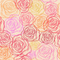 Seamless pattern elegant with abstract roses for your design Royalty Free Stock Photos