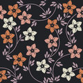Seamless pattern with elegant colorful flowers