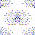 Seamless pattern elegant with decorative peacocks for your design Stock Image