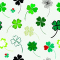 Seamless pattern elegant with four leaf lucky clovers for your design Royalty Free Stock Photos