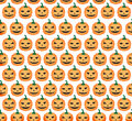 Seamless pattern elegant with funny pumpkins for your design Royalty Free Stock Photography