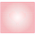 Seamless pattern in the embossed heart on pink background Stock Photos