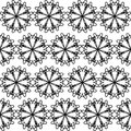 Seamless pattern of embroidered lace Stock Images
