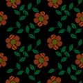 Seamless pattern with embroidery stitches imitation simple littl