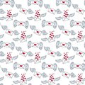 Seamless pattern with envelopes and wings.