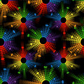 Seamless pattern with equalizers abstract colored circles Royalty Free Stock Photo
