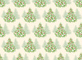 Seamless Pattern with Evergreen Christmas Tree Pine Fir Royalty Free Stock Photo