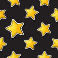 Seamless pattern with falling gold stars