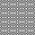 Seamless pattern with fancy design. Royalty Free Stock Photography