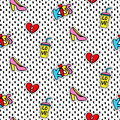 Seamless pattern with Fashionable patches