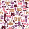 Seamless pattern with female icons beauty Stock Photo