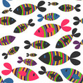 Seamless pattern with fish Stock Photos