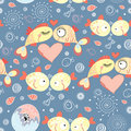 Seamless pattern of fish lovers Stock Image