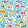 Seamless pattern with fishes Royalty Free Stock Photos