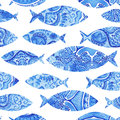 Seamless Pattern With Fishes, ...