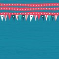 Seamless pattern with flags with american colors and symbols in blue red and white Stock Photo
