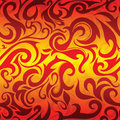 Seamless pattern with flames