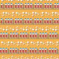 Seamless pattern in a flat style with blood test tube