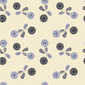 Seamless pattern floral background with cute flowers Stock Photos