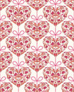 Seamless pattern with floral colorful hearts vector illustration of Royalty Free Stock Images
