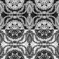Seamless pattern - floral lace ornament Royalty Free Stock Photo