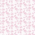 Seamless pattern floral ornament background design for fabric in soft pastel pink colors vector illustration Royalty Free Stock Photo