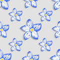 Seamless pattern with floral ornament. Vector Royalty Free Stock Photo
