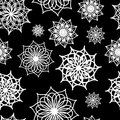 Seamless pattern with floral ornamental