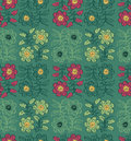 Seamless pattern flower in ethnic style. Royalty Free Stock Photo
