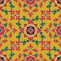 Seamless pattern Flower in traditional Thai