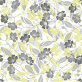 Seamless pattern with flowering branches. Vector hand-drawn ill
