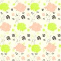 Seamless pattern with flowers Royalty Free Stock Photography
