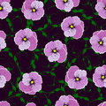 Seamless pattern, flowers against a dark background. Royalty Free Stock Photo