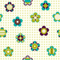 Seamless pattern with flowers on a background Royalty Free Stock Photography