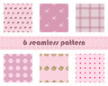 Seamless pattern flowers background seamless pattern background with pink circles seamless background pattern teapot seamless p Royalty Free Stock Image