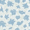 Seamless pattern with flowers on background. Wallpaper with flower texture. Green and blue on white background Royalty Free Stock Photo