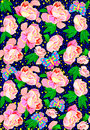 Seamless pattern with flowers and butterflies. Royalty Free Stock Photo
