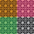 Seamless pattern with flowers and circles geometrical Royalty Free Stock Photo